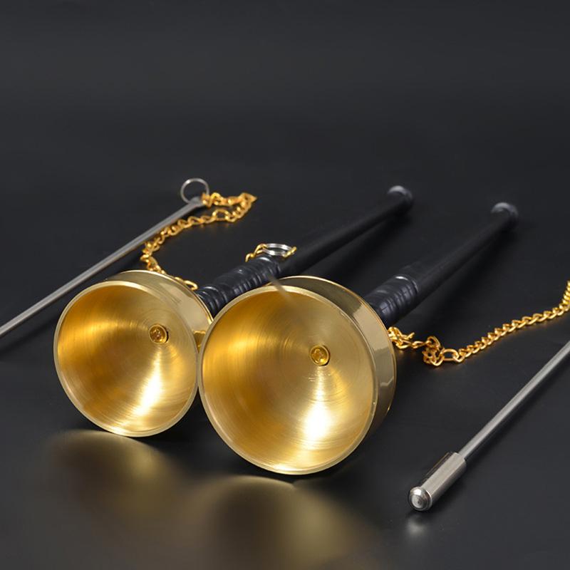 寺庙法会引磬佛教用品法器纯铜直杆引磬长柄引庆铜磬引擎佛乐铜钟