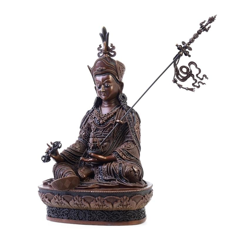 莲花生大士佛像 莲花生大师佛像摆件尼泊尔工艺密宗藏传