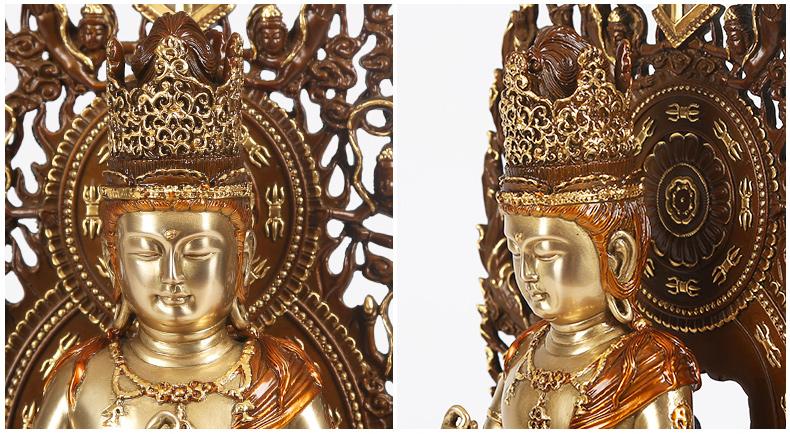 纯铜大日如来佛像摆件佛祖佛像家居工艺品佛堂摆设本命佛
