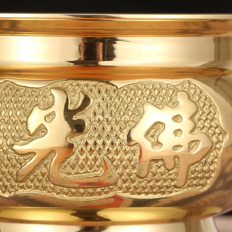 供佛香炉佛字心经炉佛堂供奉香薰炉香插立香盘香炉黄铜
